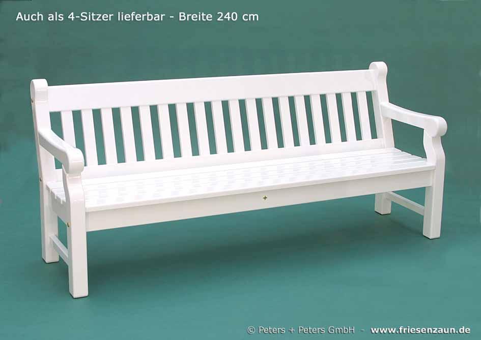 Friesenbank - Sylter Gartenbank - Weiße Friesenbänke mit 25 Jahren ...