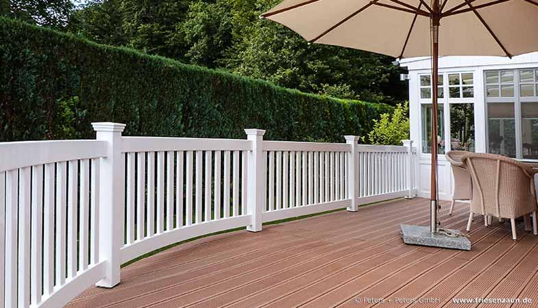 Terrasse Zaun terrassen sichtschutz - hartholz - 25 jahre garantie